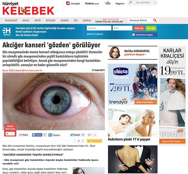 """Op. Dr. Özer Kavalcıoğlu """"Akciğer Kanseri Gözden Görülüyor"""" Haberi"""